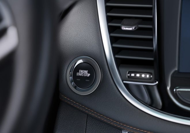 Trax crossover engine start button