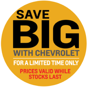 Save Big With Chevrolet For A Limited Time Only